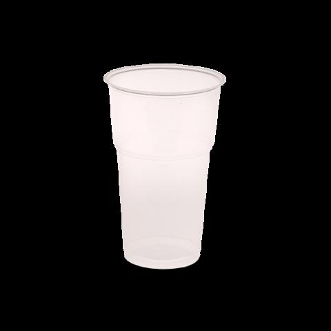"""כוס נטורל משופרת שקופה ענקית 330 סמ""""ק"""