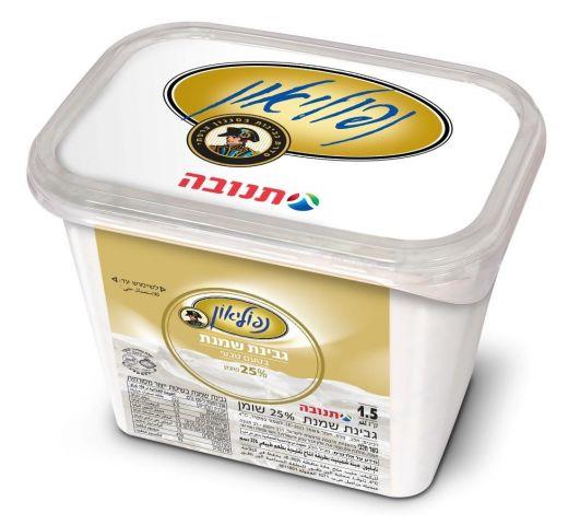 """נפוליאון גבינת שמנת טבעי 30% שומן 1.5 ק""""ג"""