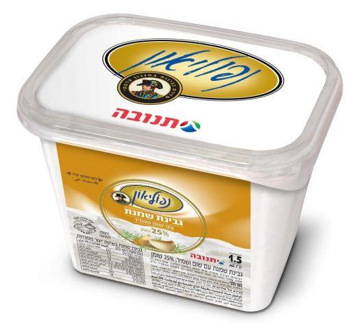 """נפוליאון גבינת שמנת שום שמיר 30% שומן 1.5 ק""""ג"""