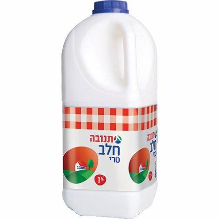 חלב תנובה טרי כד 2 ליטר 1%
