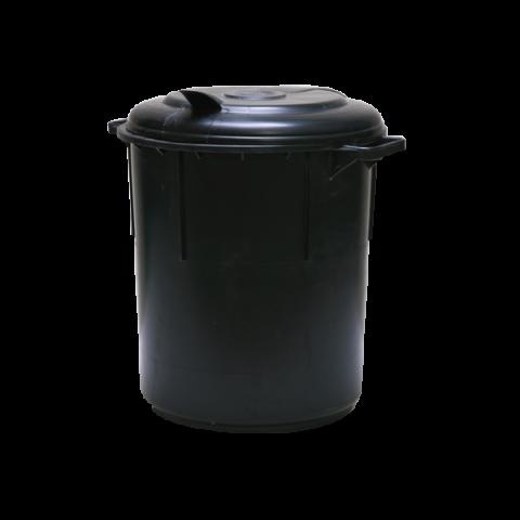פח שחור עם מכסה 60 ליטר