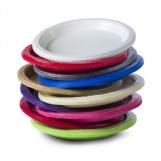 צלחות קטנות 7 צבעוני מעורב 25 יח'