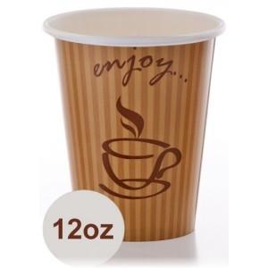 כוס נייר 12OZ פעמית 1/1000 בקרטון