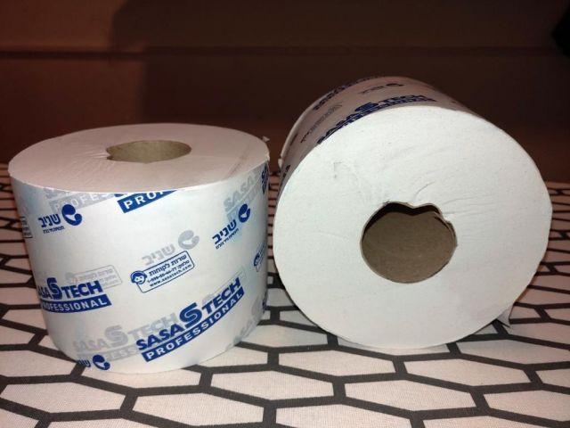 נייר טואלט דחוס 24 גלילים  קומפקט 80 מטר 100% טישו דו שכבתי