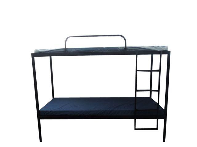 מיטת ברזל קומותיים + סולם+מגן+ מזונית