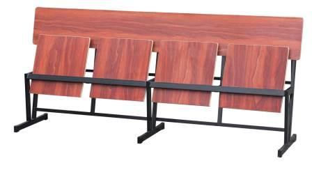 ספסל 4 מושבים נפרדים מתקפלים ללא ידיות 0.40*2.05 מטר