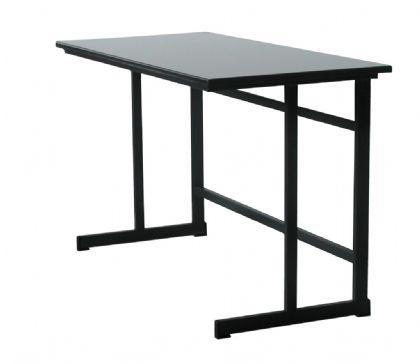 שולחן תלמיד יחיד. 53*65 מחוזק  מבנה מתכת ,פלטה בירג' מצופה משני צדדים ,קנט מעובד מצופה לקה