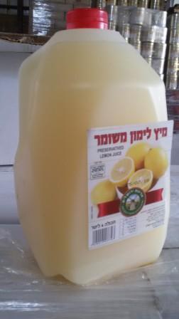 מיץ לימון משומר 4 ליטר
