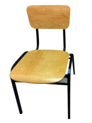 כיסא עץ מתכת מחוזק למבוגרים