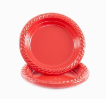צלחת קטנה 50 יח -אדום