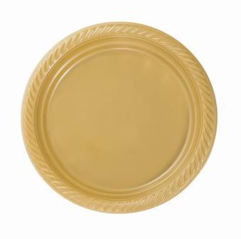צלחת זהב 10' 25 יח'
