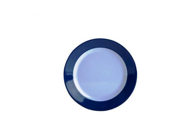 """צלחת מלמין בילי 16 ס""""מ שוליים כחול"""