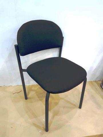 כיסא אורח רקפת דמוי עור שחור