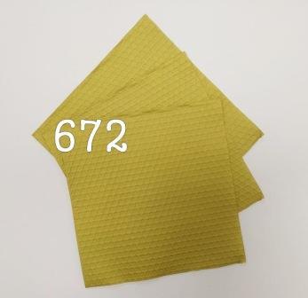מפיות מהודרות תלת שכבתי 15 יח -צהוב משושים