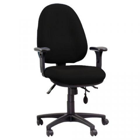 כסא משרדי מתכונן בד שחור