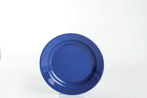 """צלחת מלמין ברק 18 ס""""מ כחול"""