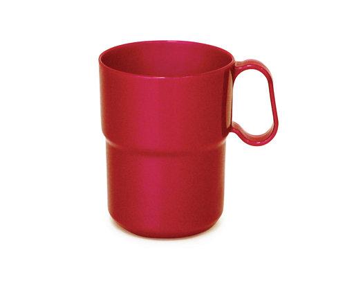 כוס מלמין ללא ידית 225 מל בשרי אדום