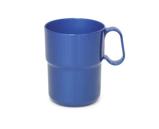 כוס מלמין ללא ידית 225 מל  כחול