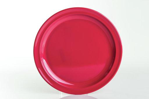"""צלחת  מלמין ברק 25 ס""""מ אדום"""