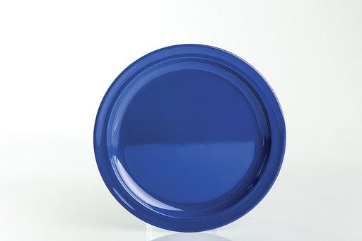 """צלחת מלמין ברק  25 ס""""מ כחול"""