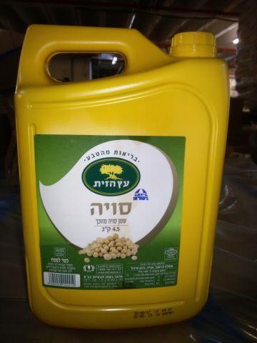 שמן סויה 4.9 ליטר משטח!