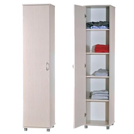 """ארון בגדים/שירות דלת אחת עם חמש מדפים דגם 700  רוחב: 41.5 ס""""מ   גובה: 184 ס""""מ   עומק: 39.5 ס""""מ"""