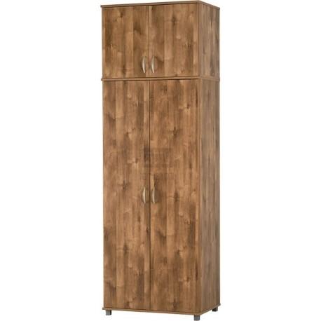"""ארון בגדים 2 דלתות עם מדפים ותליה דגם 702 + 702E רוחב: 80 ס""""מ   גובה: 240 ס""""מ   עומק: 52 ס""""מ."""