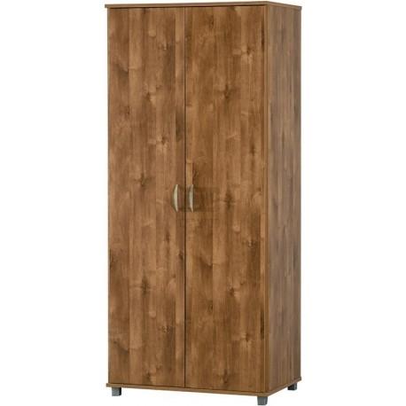 """ארון בגדים 2 דלתות עם מדפים ותליה דגם 702 רוחב: 80 ס""""מ   גובה: 184 ס""""מ   עומק: 52 ס""""מ."""
