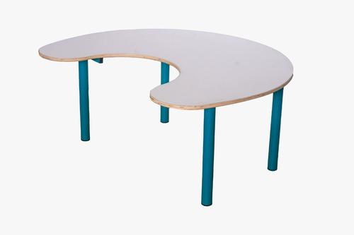 שולחן פרסה 6 ילדים רגל מתכת