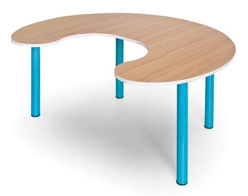 שולחן פרסה רגל מתכת 8 ילדים