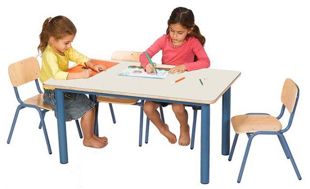 שולחן גן 90*70 רגל מתכת עבה