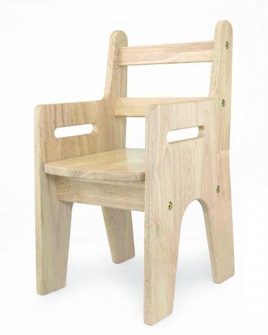 כסא עץ ידיות