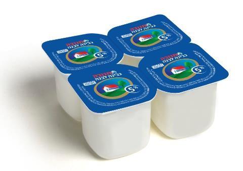 """גבינה לבנה תנובה בד""""ץ 50 גרם 5% שומן"""